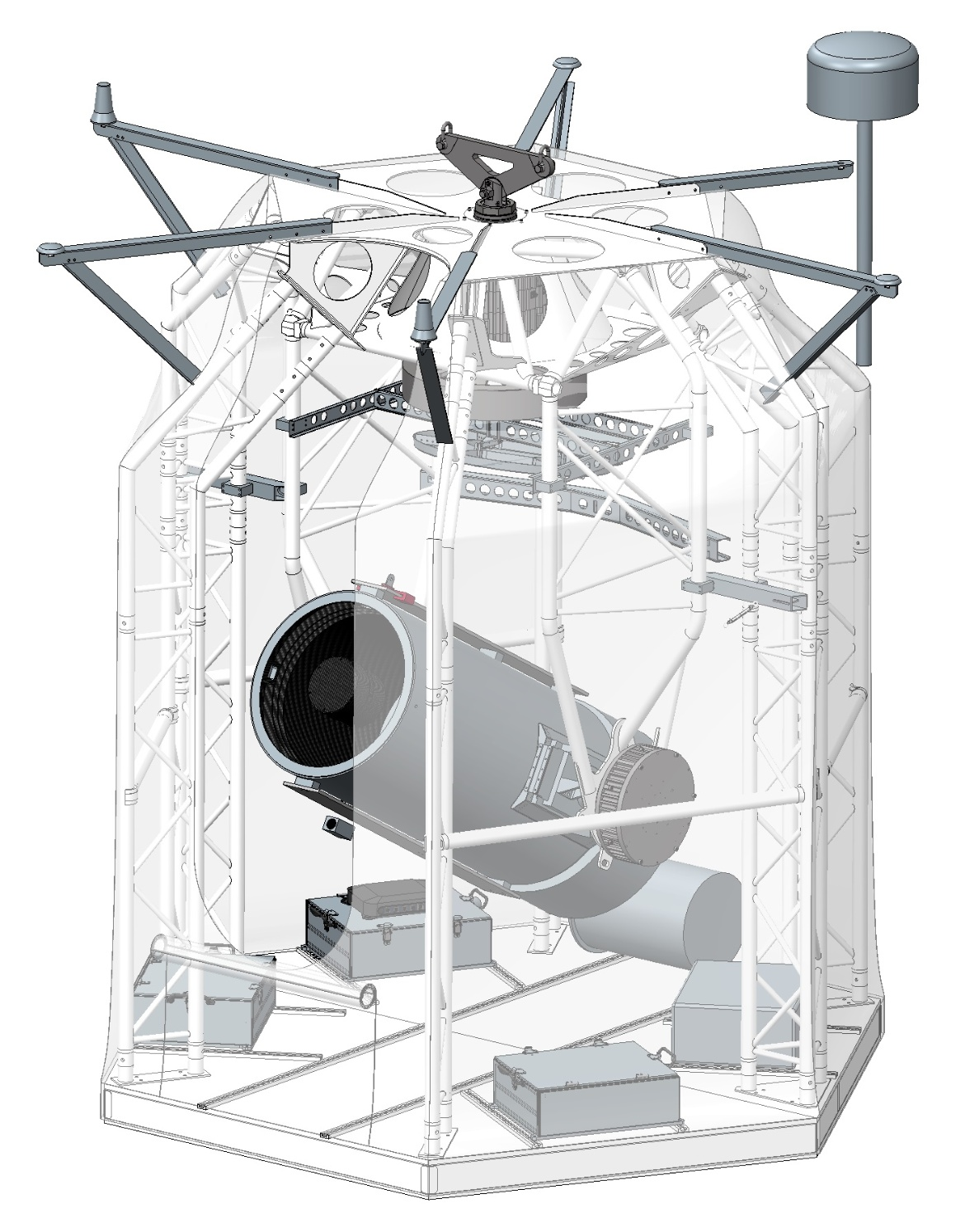 "The current model of the ""STUDIO"" gondola (transparent) (c) SSC"