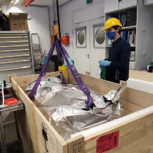 The arrival of the telescope - fresh out of the box