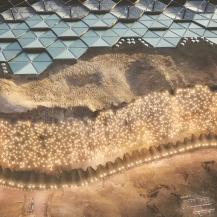 Über der Klippe befinden sich die Energie- und Landwirtschaftsmodule der Stadt ABIBOO Studio / SONet (Gonzalo Rojas)
