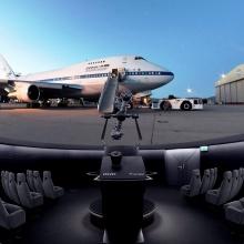 Das Flugzeug SOFIA, zu sehen seiner eigenen Planetariumsshow
