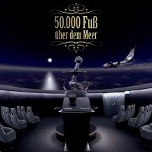 Der Introbildschirm der SOFIA Planetariumsshow, zu sehen in einer Planetariumskuppel Michael Bischof