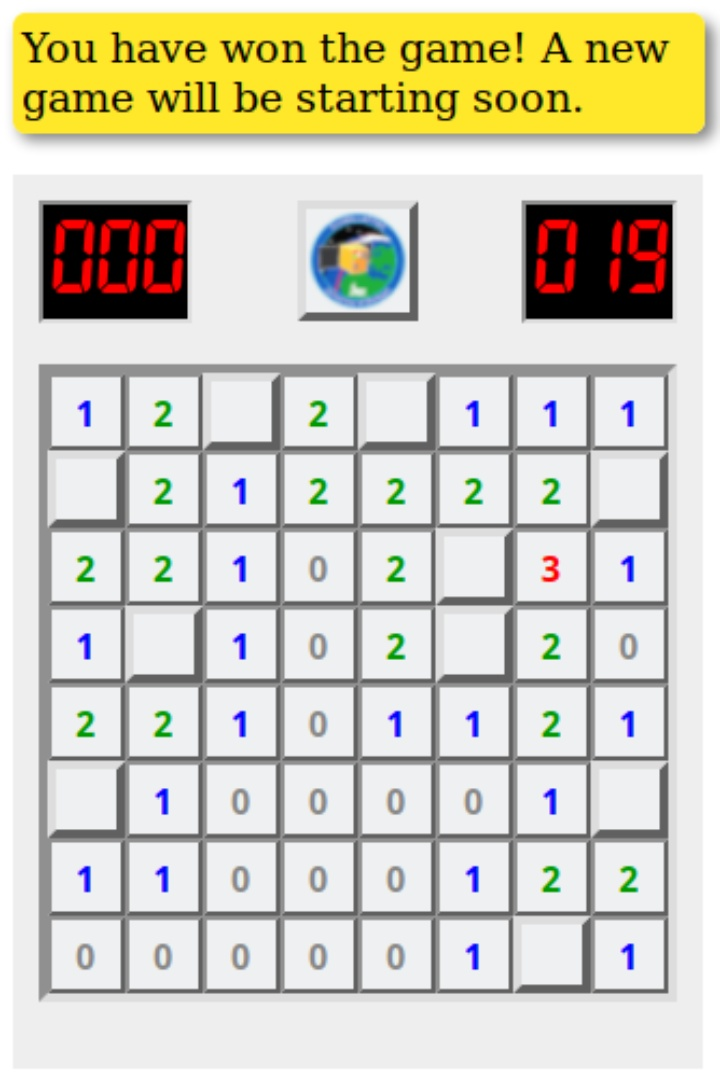 FLP Minesweeper - the first win (c)
