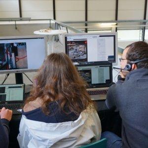 Die Groundstation: Hier werden der Rover und das Kamerasystem gesteuert